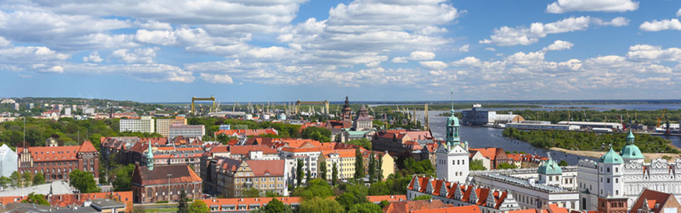 Stettin city overview