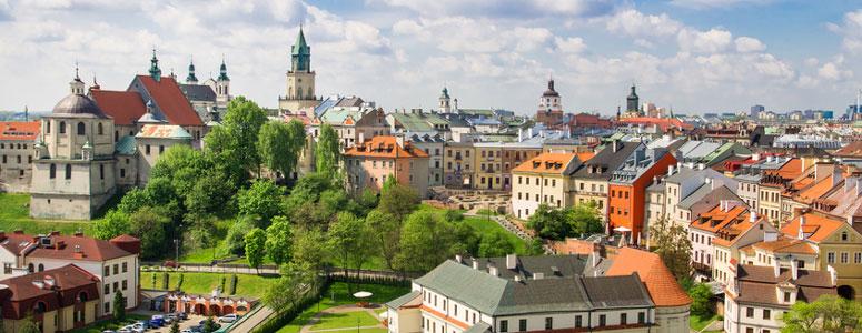 Ein Überblick über die Stadt Lublin, Polen