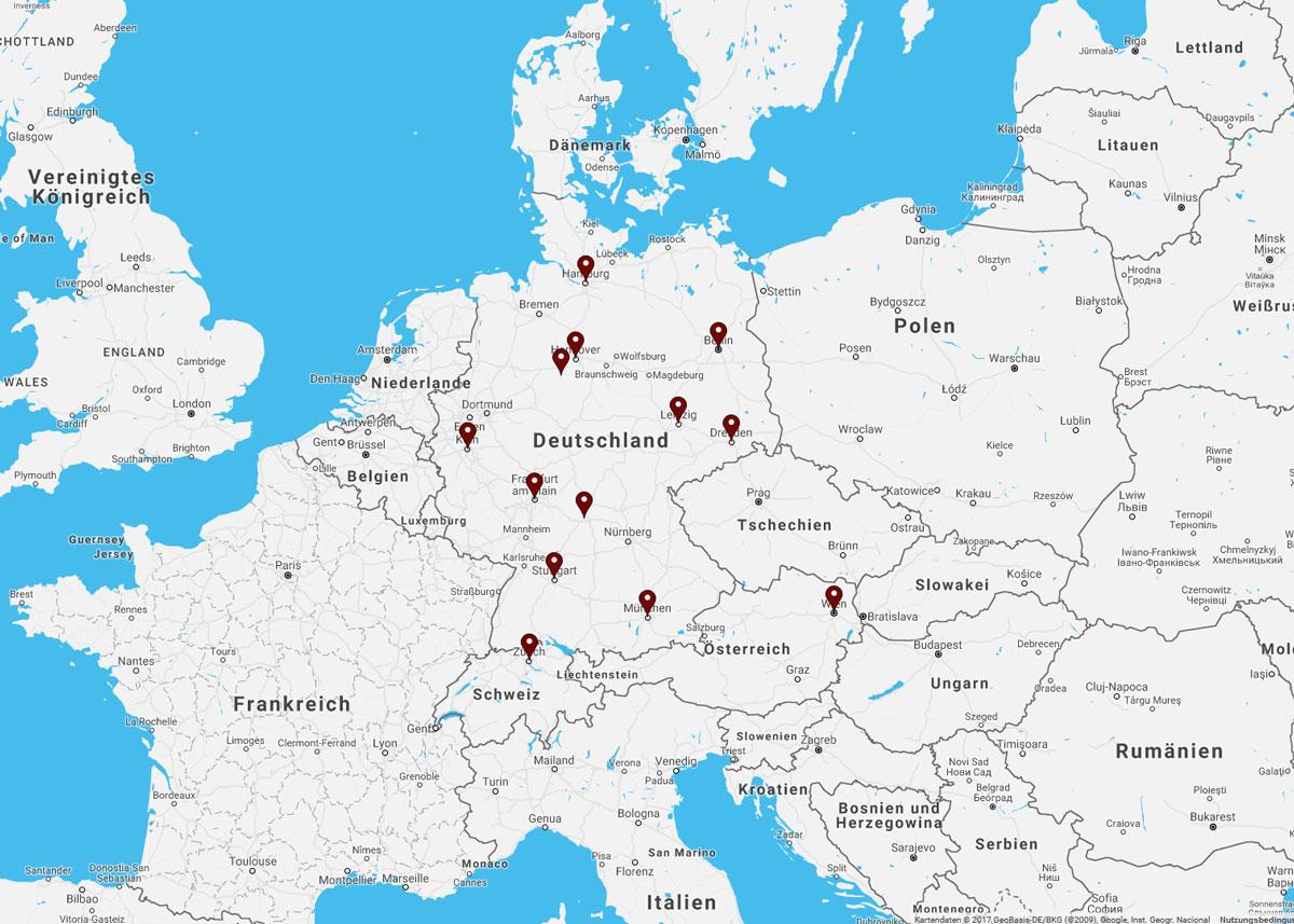 Infotage Deutschland, Österreich, Schweiz